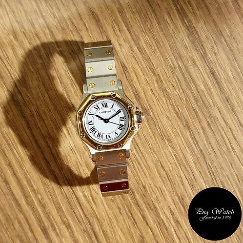 Cartier Santos Octagon 18K and Steel Ladies Watch (2)