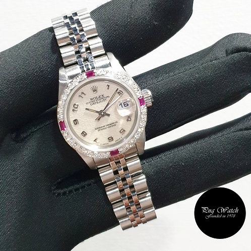 Rolex Oyster Perpetual 26mm Ladies Ivory Computer Datejust REF: 69174 (2)
