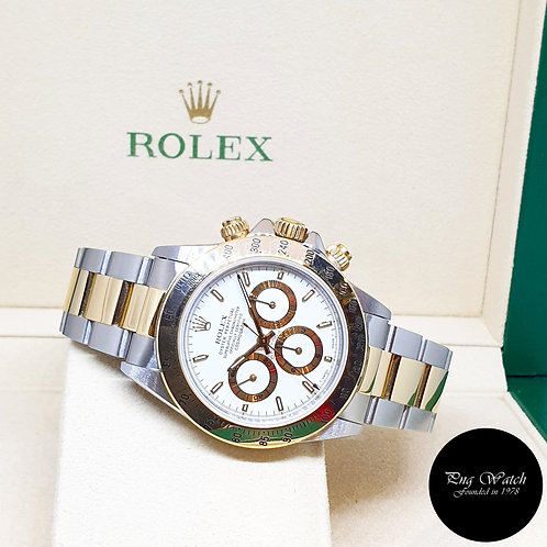 (NOT AVAILABLE) Rolex Zenith 18K Half Gold White Indexes Daytona REF: 16523 (T)