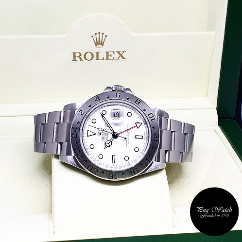 "Rolex Oyster Perpetual White ""POLAR"" Explorer 2 REF: 16570 (Z Series)"