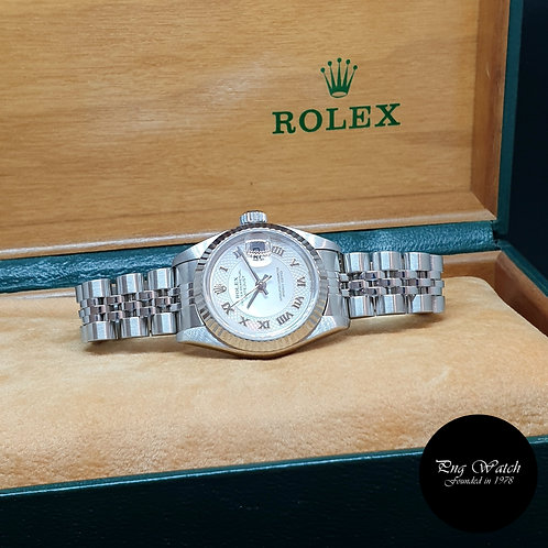 Rolex Oyster Perpetual Pink MOP Ladies Datejust REF: 79174
