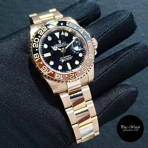 """Rolex Oyster Perpetual 18K Rose Gold """"ROOTBEER"""" GMT Master 2 REF: 126715CHNR (2)"""