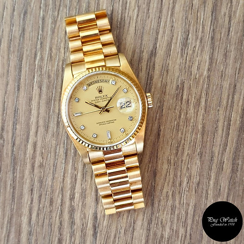 Rolex Oyster Perpetual 18K Solid Yellow Gold Diamonds Day-Date REF: 18038 (2)