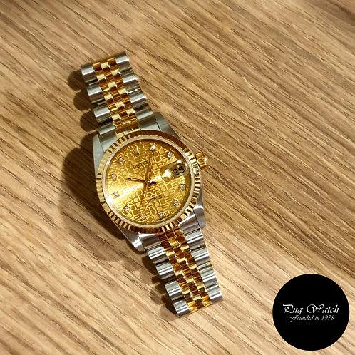 Rolex OP 31mm 18K Half Gold Champange Computer Diamonds Datejust REF: 68273