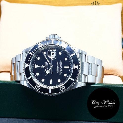 Rolex Oyster Perpetual Date Black Submariner (Y Series) REF: 16610