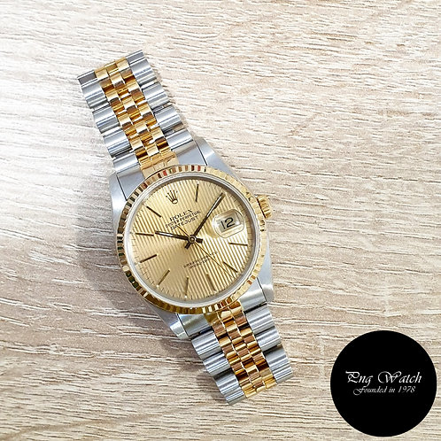 Rolex Oyster Perpetual Champagne Tapestry Datejust REF: 16233 (2)