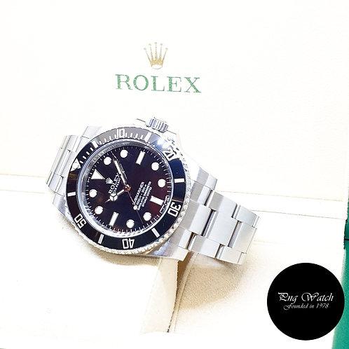 Rolex Oyster Perpetual Steel Ceramic No Date Black Submariner REF: 114060