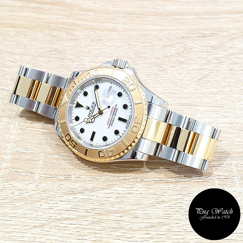 Rolex Oyster Perpetual 18K Half Gold White 40mm Yachtmaster REF: 16623 (V)(2)