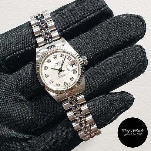 Rolex Discontinued 26mm Steel 10PT Diamonds Ladies Datejust REF: 79174 (2)