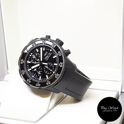 IWC Black Rubber Aquatimer Chronograph Galapagos REF: 376705