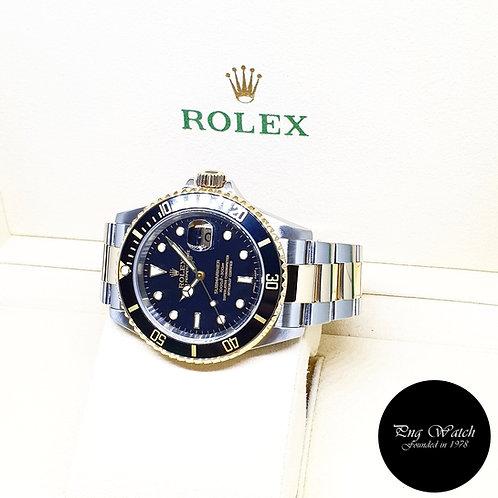 Rolex Oyster Perpetual 18K Half Gold Black Submariner REF: 16613