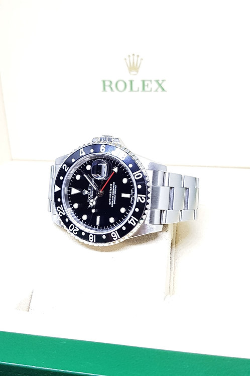 "Rolex ""Black Knight"" GMT Master 2 REF: 16710 (Full Set)"