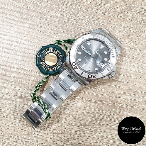Rolex Oyster Perpetual 37mm Rhodium Yachtmaster REF: 268622 (2)