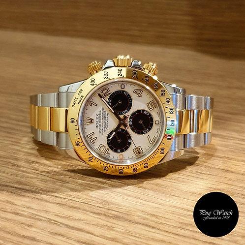 Rolex 18K Half Gold Panda Daytona REF: 116523 (2)