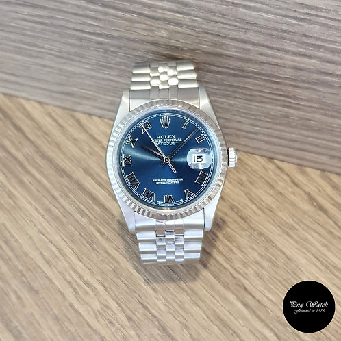 Rolex Oyster Perpetual Blue Roman Datejust REF: 16234 (2)