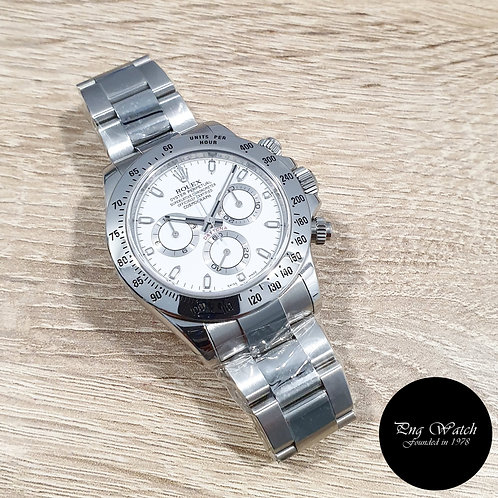 Rolex Oyster Perpetual Steel White Indexes Daytona REF: 116520 (AN Series)(2)