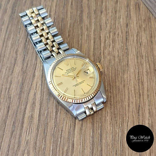 Rolex Oyster Perpetual Half Gold Champagne Datejust REF: 1601