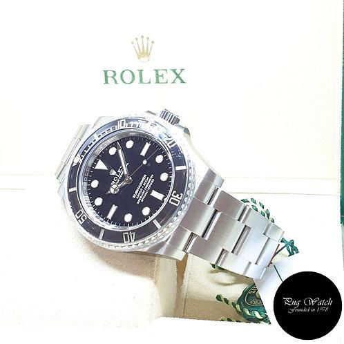 Rolex OP Steel Ceramic 41mm No Date Black Submariner REF: 124060 (2021)