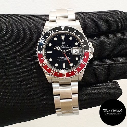 "Rolex Oyster Perpetual ""COKE"" Black GMT Master 2 REF: 16710 (2)"