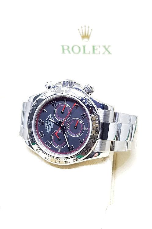 "Rolex Oyster Perpetual 18K White Gold Cosmograph ""Spyder"" Daytona REF: 116509"