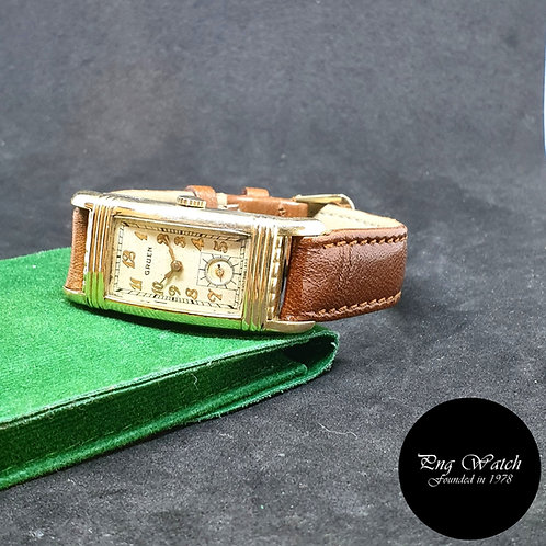 Vintage 1930s Gruen Rectangular Gold filled Watch REF: 501-278