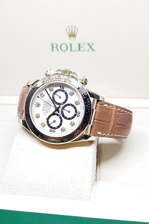 "Rolex Zenith ""Inverted 6"" 8PT Diamonds 18K Full Gold Daytona REF: 16518"