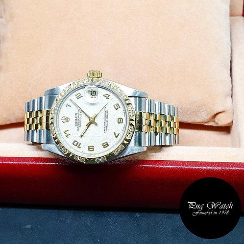 Rolex Oyster Perpetual 18K Half Gold Beige Computer Datejust REF: 68273