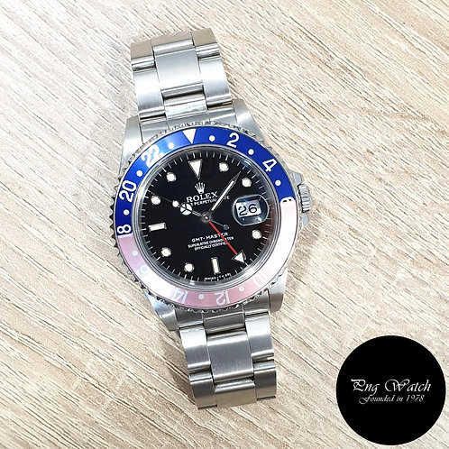 "Rolex Oyster Perpetual Date Tritium ""Pepsi"" Black GMT Master REF: 16700 (L)(2)"