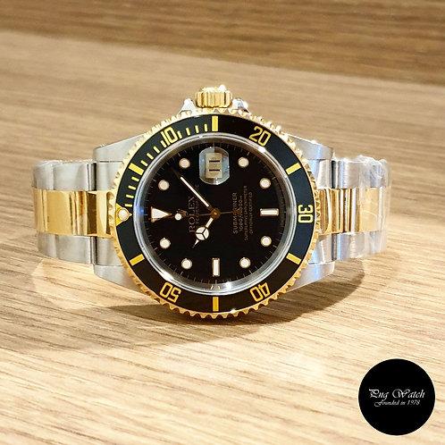 Rolex 18K Half Gold Black Submariner REF: 16613 (2)