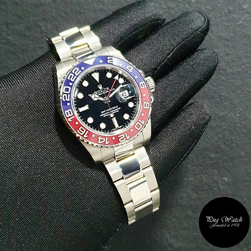 "Rolex Ceramic 18K Full White Gold ""PEPSI"" GMT Master 2 REF: 116719BLRO (15)(2)"