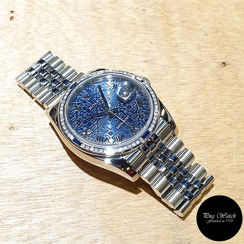 Rolex Oyster Perpetual 36mm Blue Computer Roman Datejust REF: 116234 (D)(2)