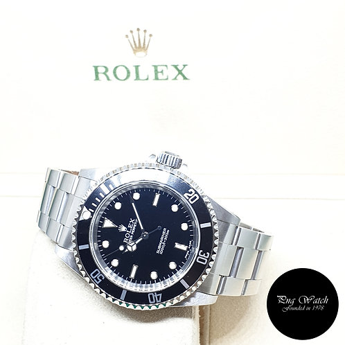 Rolex Oyster Perpetual No Date 2 Liner Black Submariner REF: 14060M (2002)