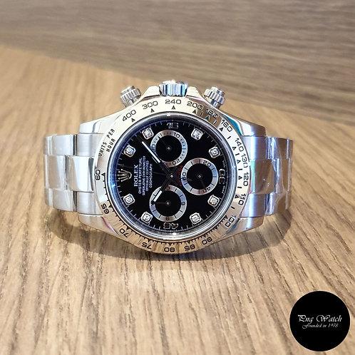 Rolex 18K White Gold Diamonds Cosmograph Daytona REF: 116509 (2)