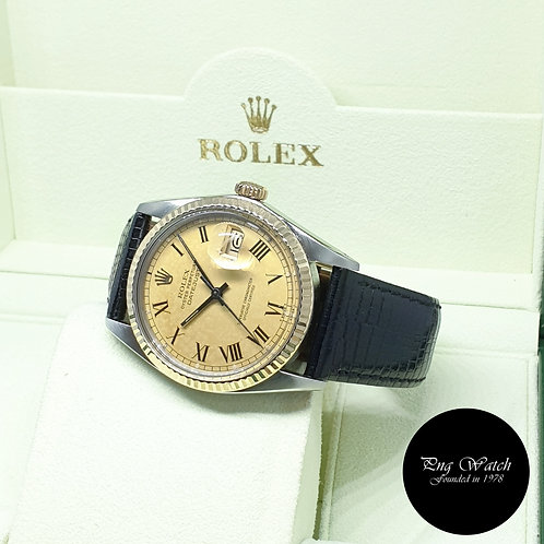 Rolex Oyster Perpetual 14K Half Gold Champagne Buckley Datejust REF: 16013 (9.6)