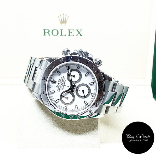 """Rolex Oyster Perpetual Steel White Indexes """"APH"""" Cosmograph Daytona REF: 116520"""