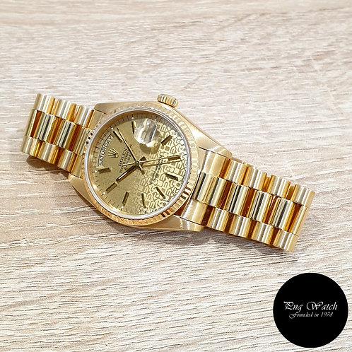 Rolex Oyster Perpetual 18K Yellow Gold Computer Day-Date REF: 18038 (2)
