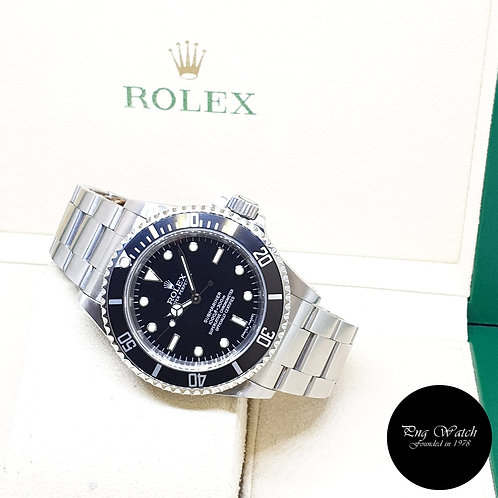 Rolex Oyster Perpetual No Date 4 Liner Black Submariner REF: 14060M (2008)