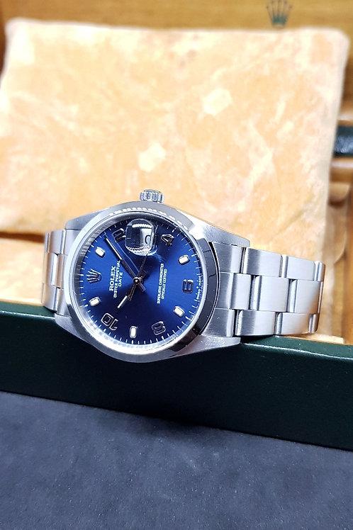 Rolex Oyster Perpetual Blue Date REF: 15200
