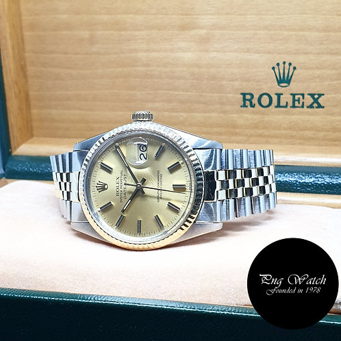 Rolex Oyster Perpetual Half Gold Champagne Datejust REF: 16013