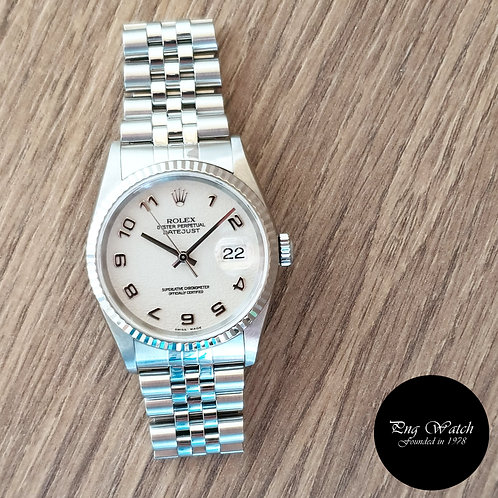 Rolex Oyster Perpetual Ivory Computer Arabic Datejust REF: 16234 (2)