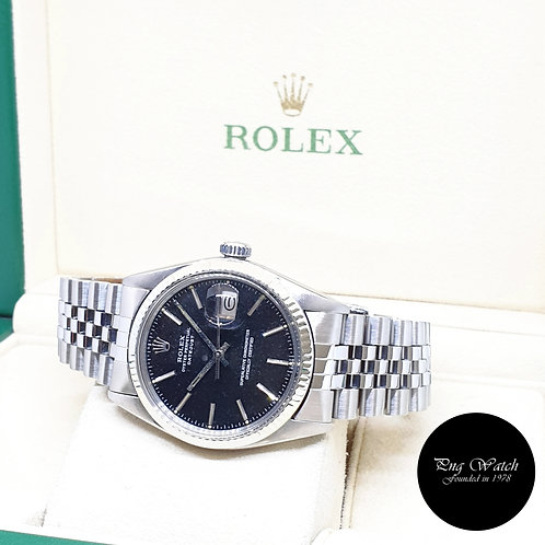 Rolex 36mm Oyster Perpetual Tritium Black Datejust REF: 16014 (6.03 Million)