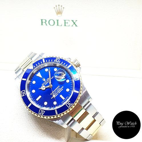Rolex Oyster Perpetual 18K Half Gold Blue Submariner Date REF: 16613 (Z Series)