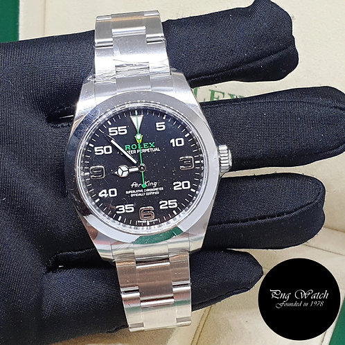 Rolex Oyster Perpetual 40mm Black Air-King REF: 116900 (21)(2)