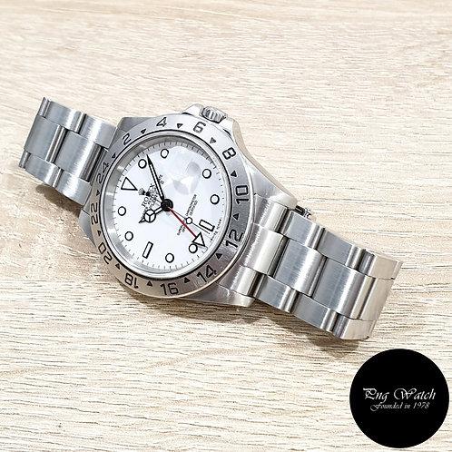"Rolex Oyster Perpetual White ""POLAR"" Explorer 2 REF: 16570 (F)(2)"