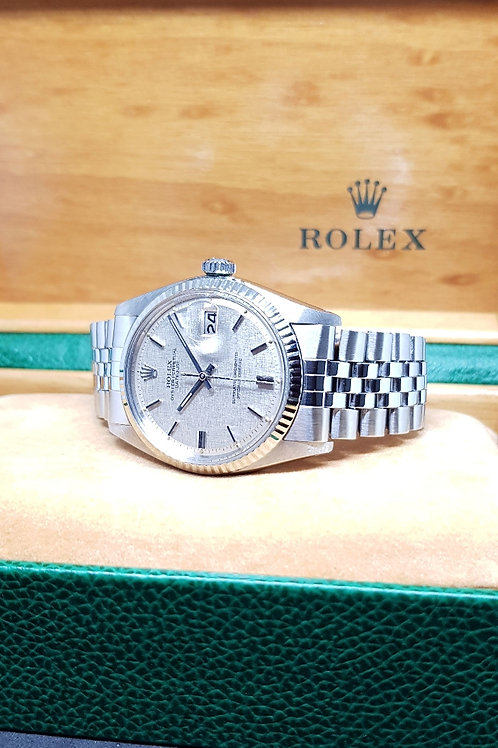 Rolex Oyster Perpetual Linen Datejust REF: 1601