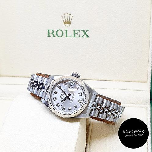 Rolex Oyster Perpetual 26mm Steel 10PT Diamonds Lady Datejust REF: 79174 (P)