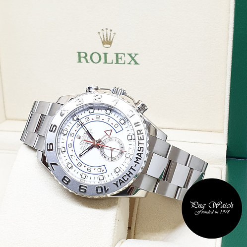 Rolex 44mm Oyster Perpetual 18K White Gold Yachtmaster II REF: 116689 (M)