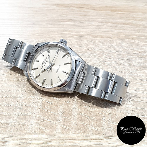 Rolex Oyster Perpetual Silver Air-King REF: 5500 (Full Set)(2)