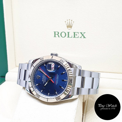 """Rolex Oyster Perpetual Blue """"Turn-O-Graph"""" Datejust REF: 116264 (F Series)"""