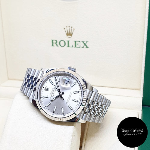 Rolex Oyster Perpetual 36mm Silver Indexes Datejust REF: 126234 (2020)